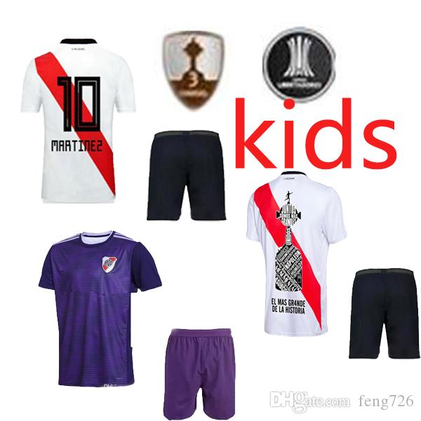 036c6bb0080 2018 2019 River Plate Home Kids Soccer Jersey 18 19 Riverbed River ...