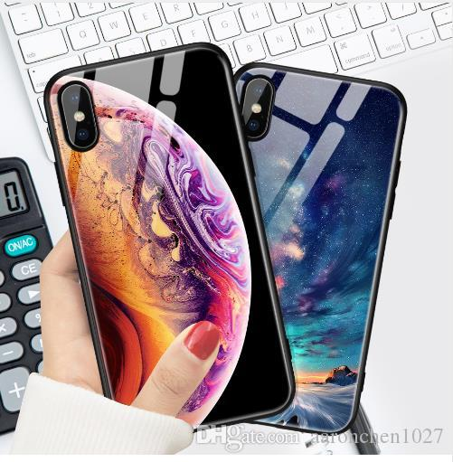 buy popular 3c248 35f1e Best Tempered Glass Case For iPhone X XS XR Max Case Luxury Star Space  Cover For iPhone X Case For iPhone6s 6 6s 7 8 Plus Samsung S8 S9