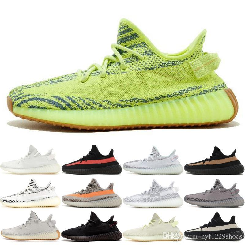 Laufschuhe Kanye Cremeweiß Zebra West Herren Schuhe Sneakers 350 V2 Yeezy Sport Gelb Supreme Adidas Halbgefroren Designer kuPZXi