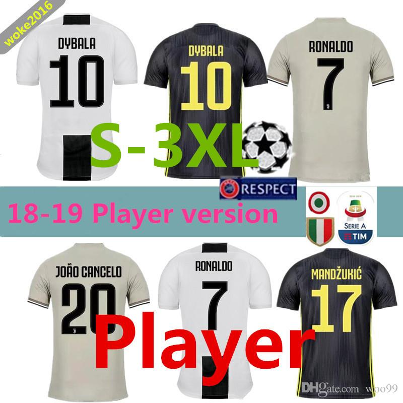 ac2fe9c17ca S-3XL Player Version 2018 2019 Juventus Player Version Jersey ...
