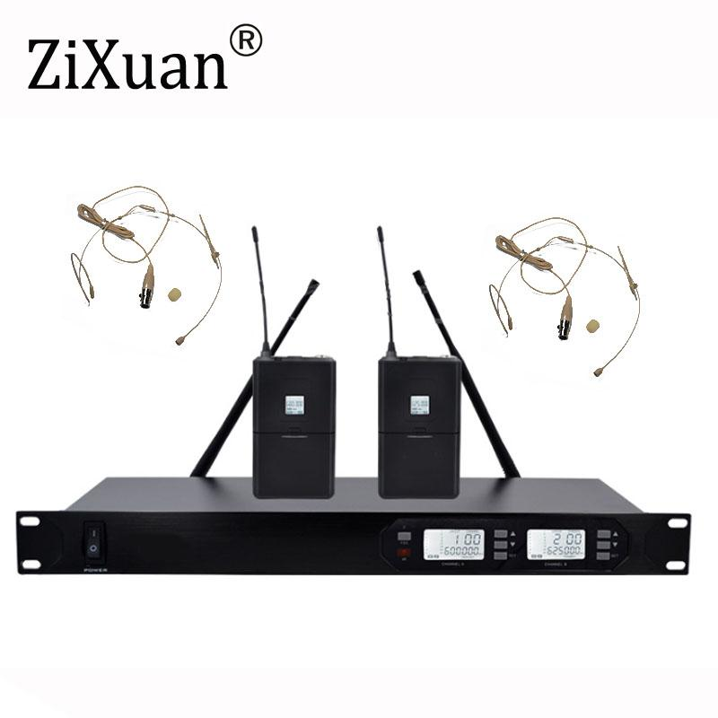 Wireless Microphone New UHF 2 Channel Fixed Frequency + Dynamic Screen +  KTV Professional Microphone