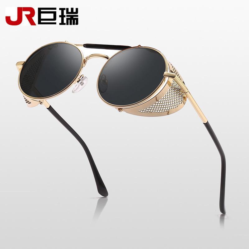 29ad8f5f560a9 Round Sunglasses Steampunk Men Sun Glasses Women Brand Designer ...