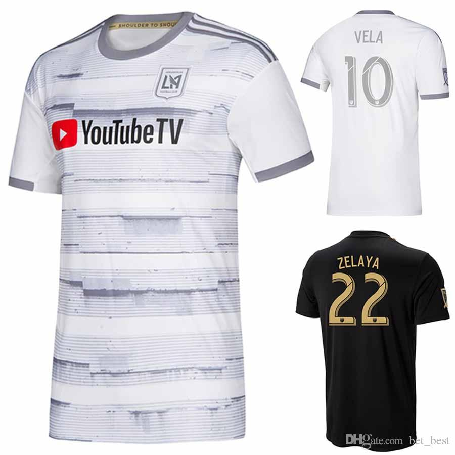 9f51cd0c679 2019 Men's LAFC White Street By Street Jersey Zelaya Rossi Vela 2018 Black  Primary Los Angeles Football Shirt