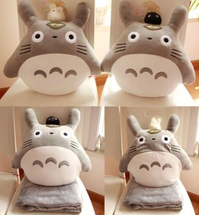 1PCS Cute Totoro Anime Blanket Plush Velvet Warm Decoration Soft Bed Home Pillow Throw Sofa Blankets Unisex Gifts NEW