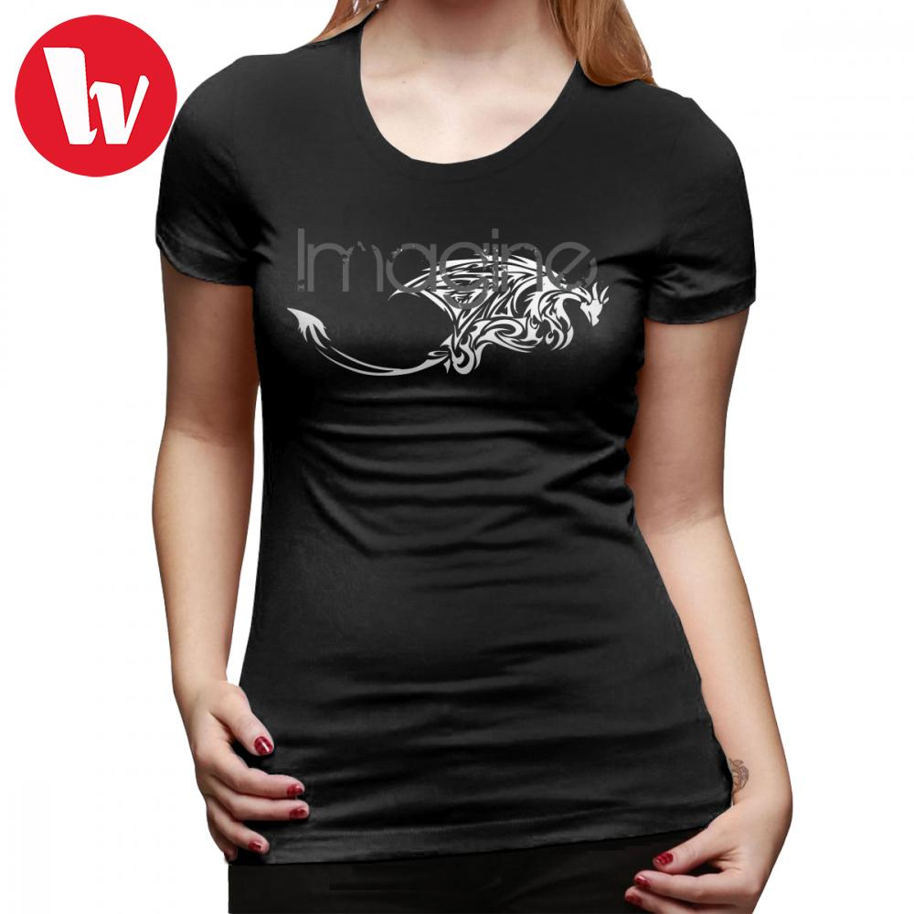 Imagine Dragon T-Shirt Imagine Dragons T Shirt Plus Size Short Sleeve Women tshirt Silver Summer Graphic O Neck Ladies Tee Shirt
