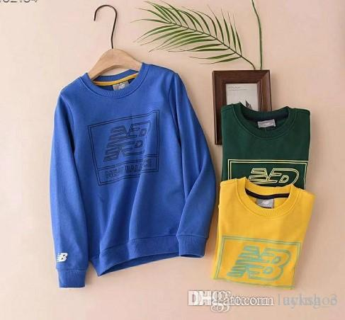 Boys and girls round neck sweater big children comfortable solid color shirt fashion casual long-sleeved T-shirt