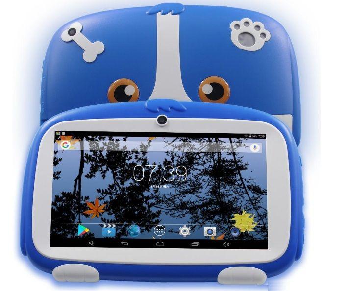 Çocuklar Tabletler Pc 512MB + 8GB DHL 7 İnç Yeni Karikatür Köpek Çocuk Öğrenme Tablet Pc Android 4.4 Dört Çekirdekli Yüklü En hediyeler