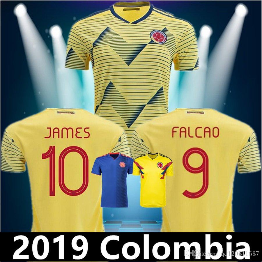 separation shoes af7c9 c92bf New 2019 Colombia Soccer Jerseys Copa America Colombia JAMES VALDERRAMA  Camiseta de futbol FALCAO Juan CUADRADO VALDERRAMA Football shirts