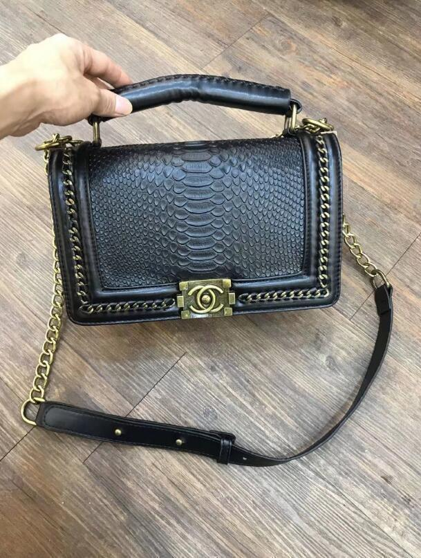 2018 new design bag, snake leather embossed fashion ladies bag chain, Messenger bag luxury design Messenger bag6 571