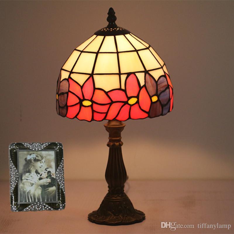 Lumière Vintage 8 Ktv Tiffany Chevet Chambre Chaud Table Étude Pouces Verre Bar Lampe Hôtel Blanc Led Rouge De Fleurs Creative hQCsdBxtor