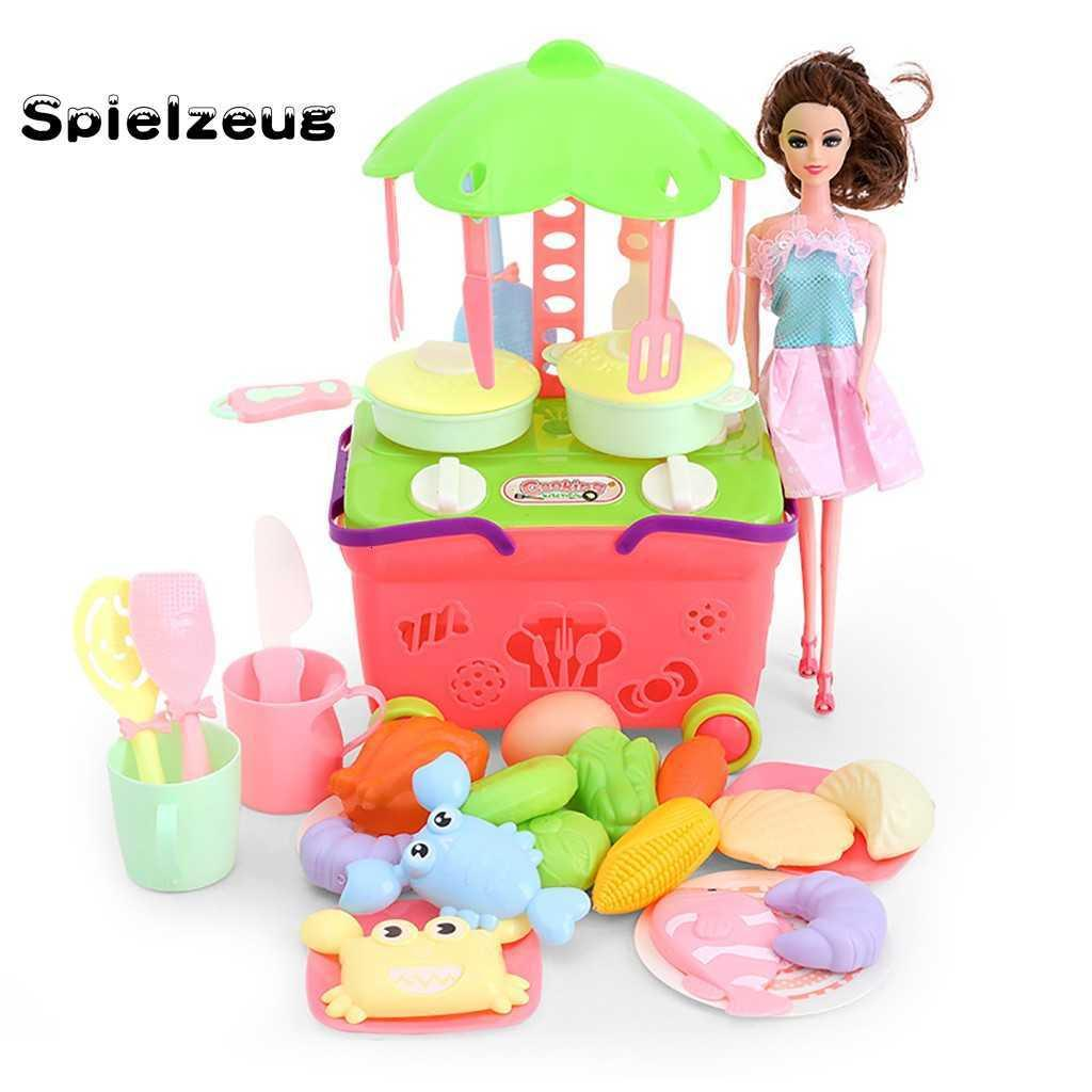 Children's Gifts Play kitchen Set Children's Kitchen Pretend Toys Cooking Food Toys House Education Toy Gifts for Girl Kid#g4 SH190907
