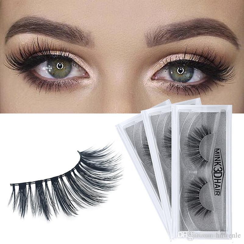 bf1d4a247bd YAHLIGS Natural False Eyelashes Thick Real 3d Mink Eyelashes Soft ...