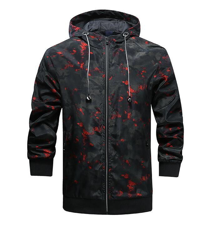 a4c749ad7ff01 Mens Camouflage Windbreaker Jackets Sports Athletic Hooded Slim Fit Coats  Jacket Mens Camouflage Windbreaker Jackets Men Windbreaker Jackets Hommes  Jacket ...
