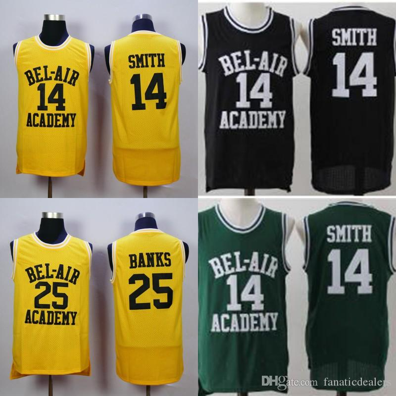 Will Smith Basketball Jersey The Fresh Prince of Bel Air Academy 25 ... ca7dea88a0