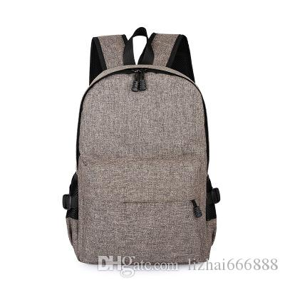 A new multifunctional nylon backpack USB charging recreation computer bag waterproof breathable security package #4419