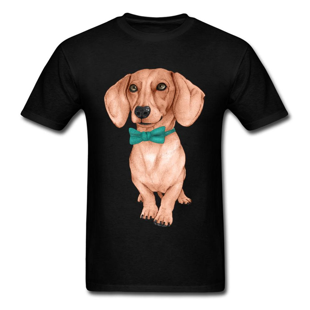 d3462d0d I Love My Dog Pet Animal T Shirts Men Dachshund Wiener Dog Drawing Picture  Tshirt For Handsome Man Cute Teckel Cotton Tees Design Shirt Formal Shirt  From ...