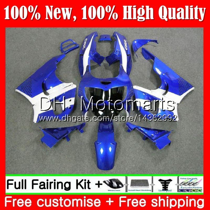 Corps pour HONDA CBR 893RR CBR900RR Bleu blanc CBR893RR 94 95 96 97 71MT5 CBR 893 CBR900 CBR893 RR 1994 1995 1996 1997 Nouvelle carrosserie carénage