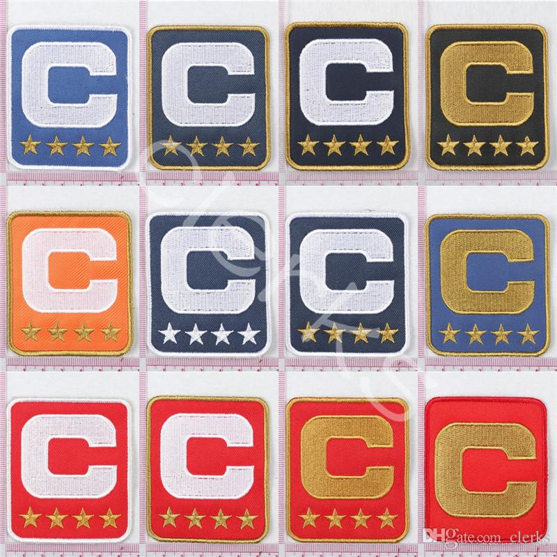 Custom Team Leader Captain C Badge Embroidery Patch 1/2/3/4 Star Sewing On for Football Jersey