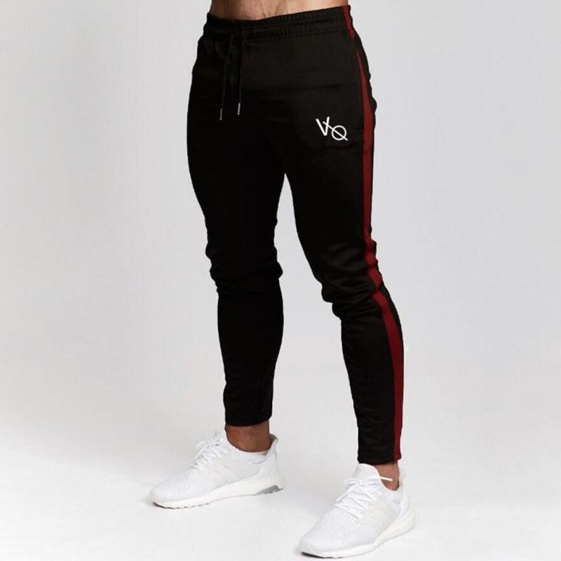 fd0e2f89a2cc7 Compre Mens Corredores Casual Calças De Fitness Masculino Sportswear Treino  Bottoms Skinny Sweatpants Calças Academias Pretas Corredores Calças De  Jogging ...