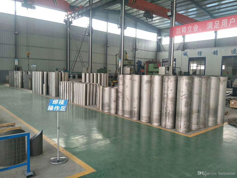 ASTM B861 Big diameter seamless titanium tube for Pressure Vessel  Customized astm b338 grade 2 titanium pipe for exhaust price per kg