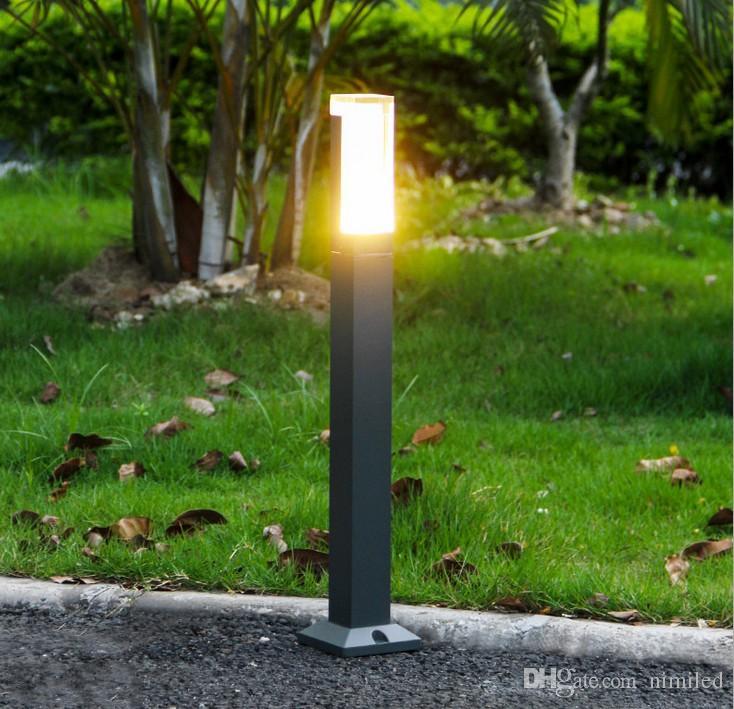 Carré De Borne Poste Pôle Pelouse Imperméable Lampe Lumière À Moderne Eau Led L Villa Jardin Debout Extérieure Llfa 2WEDH9I