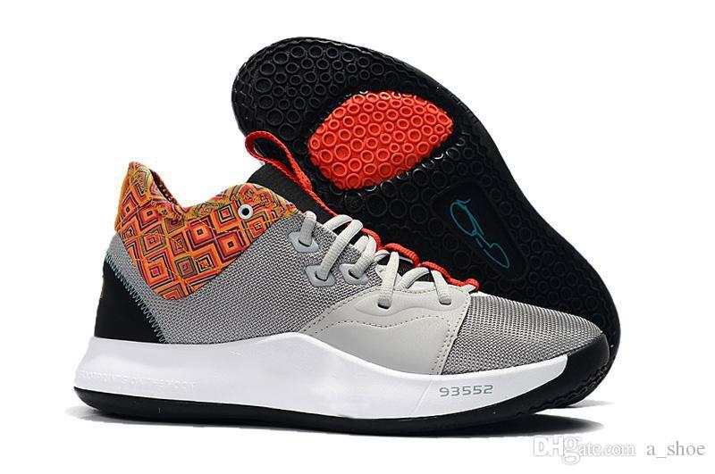 5519a0fc218a 2019 Free Phipping Paul George 3 BHM NASA Black White Clean Monochrome  Basketball Shoes Mens PG 3 BHM Sneakers Size US 7 12 From A shoe