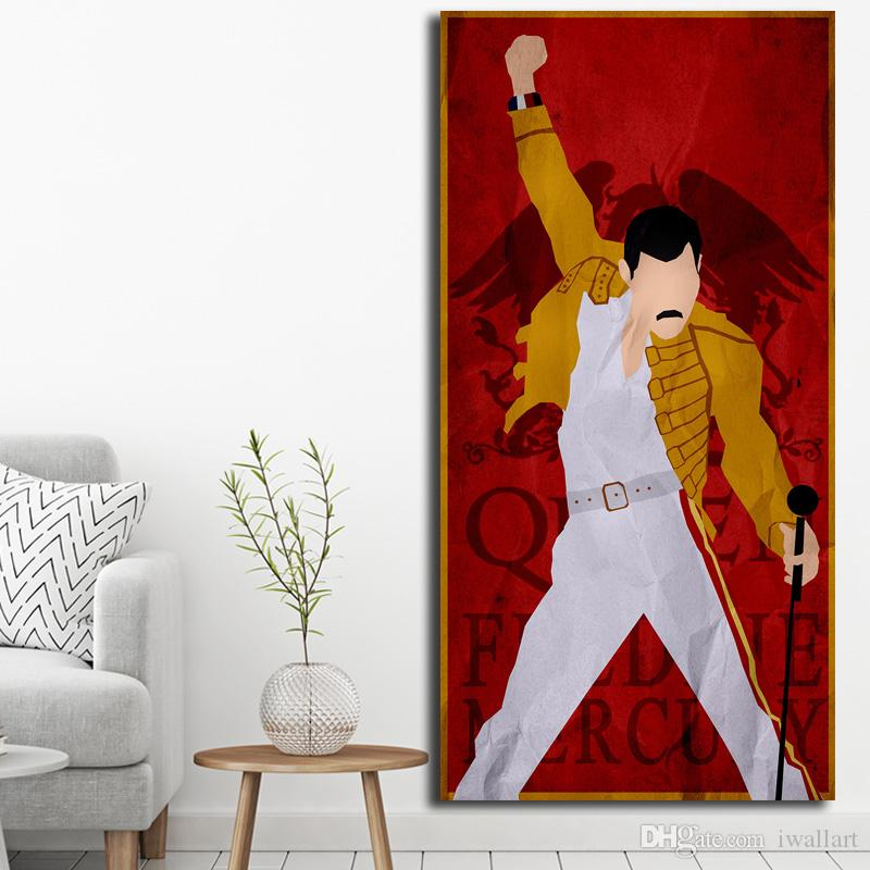 2019 queen band rock star freddie mercury art canvas poster painting wall picture print anime home bedroom decoration from iwallart 6 86 dhgate com