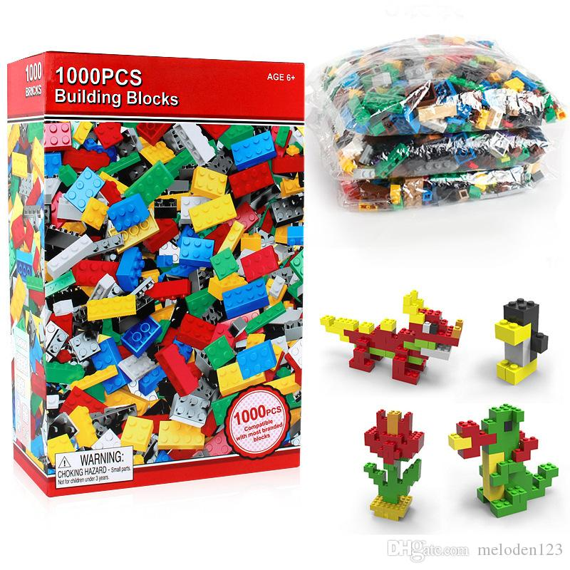 Children's educational plastic assembled toys 1000 blocks DIY early education small particles science and education building blocks