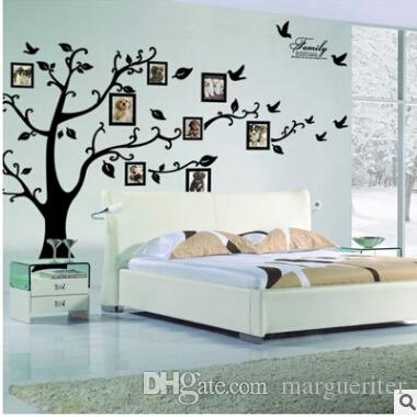 c9328c381fa DIY Photo Tree Wall Stickers Creative Photo Frame 3D Self Adhesive Family Wall  Sticker Living Room Television Wall Decal Home Decoration Sticker Quotes  Wall ...
