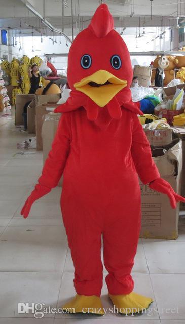 Compre Traje De La Mascota Del Pollo Pavo Rojo De Halloween Dibujos