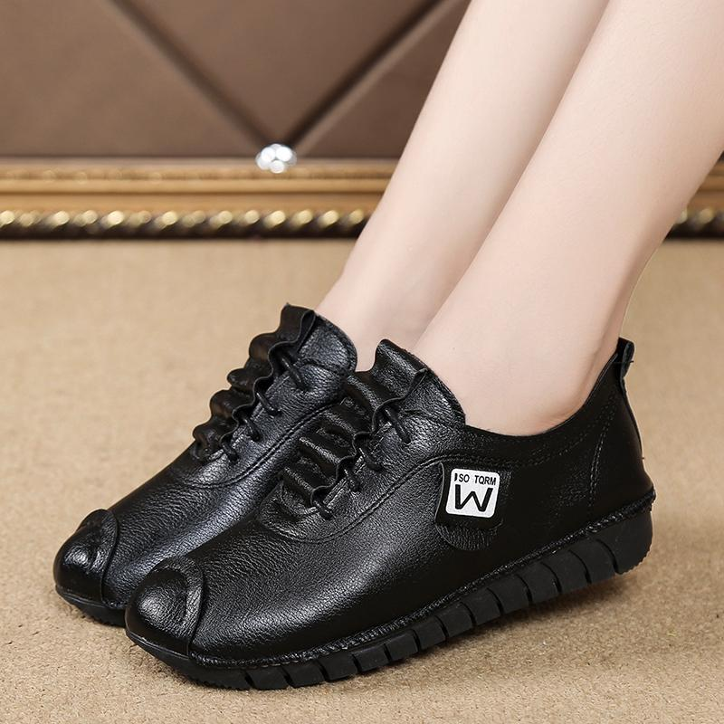 Women Sneakers 2020 New Flat Casual Shoes Woman Patent Leather Lace Up Warking Driving Trainers Shoes Footwear Red Black White