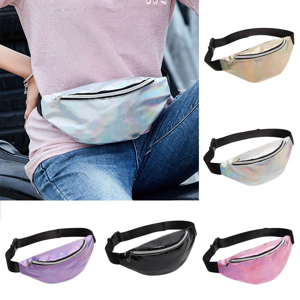 Bridal & Wedding Party Jewelry Bags For Women 2019 New Fashion Neutral Outdoor Zipper Sequin Messenger Bag Sport Chest Bag Waist Bag Cross-shoulder Pocket