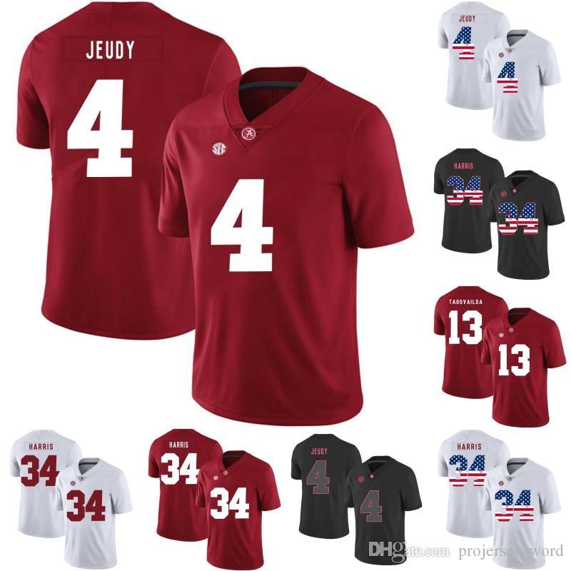 save off e3f30 534d9 Mens Alabama Crimson Tide Jersey 7 Braxton Barker 16 Kyle Edwards 18 Layne  Hatcher 10 Mac Jones 13 Tua Tagovailoa College Football Jerseys