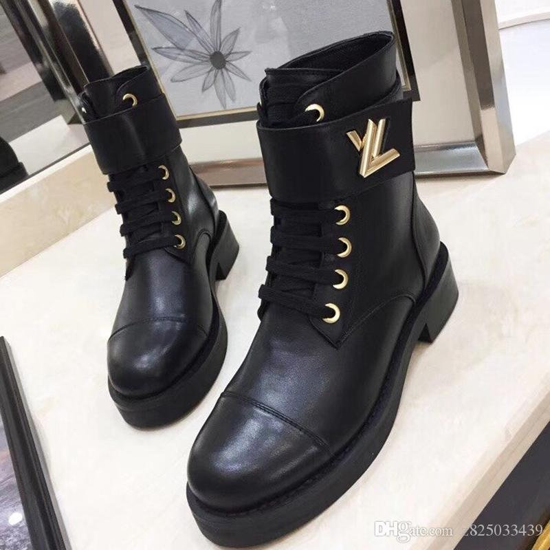 Moda Couro Botas Sapatos Winter Wonderland Rangers Bota Chaussures derramar Shoes Femmes Lady Sapatinho forma das mulheres Bottes Femmes Fast Ship