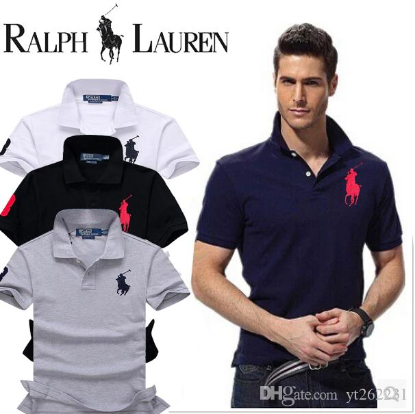 a62181c7 2019 Big Men T Shirt 2019 Fashion Men Polo Shirt Summer Short Sleeve Polos  Shirt Mens Striped Collar Shirt Cotton Plus Size S 5XL From Yt262231, ...