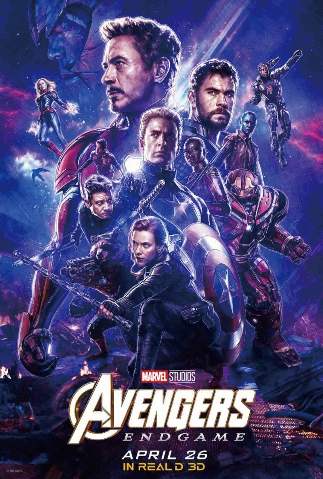 2019 Avengers 4 Endgame Movie Wall Decor Art Silk Print Poster 95848