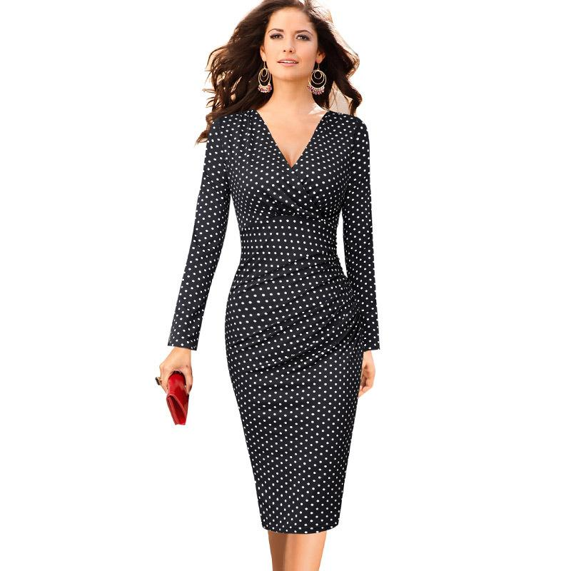 08cf1a7c5e 2019 Vfemage Womens Elegant V Neck Ruched Floral Print Work Casual Cocktail  Party Slim Fitted Bodycon Pencil Faux Wrap Dress 559 Y19012201 From Tao02,  ...