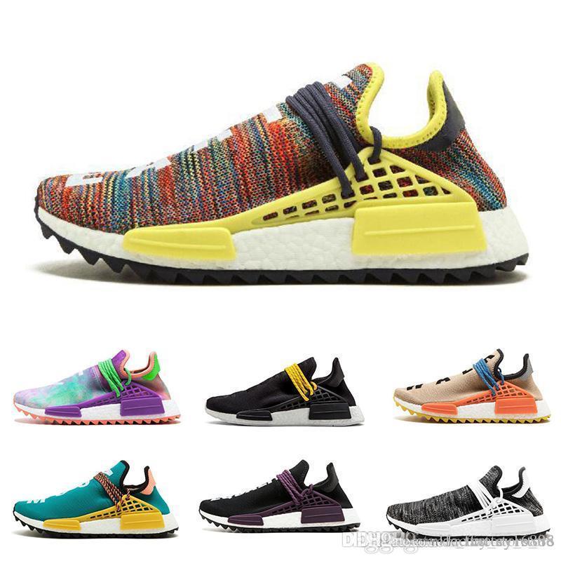 308eaddb69a75 Adidas Human Race Running Shoes Pharrell Williams Hu Trail Cream ...