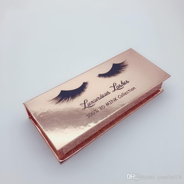 Luxury False Eyelashes Package Box 3D Mink Eyelashes packaging box custom Fake eye lashes eyelash packaging box case Cosmetics package