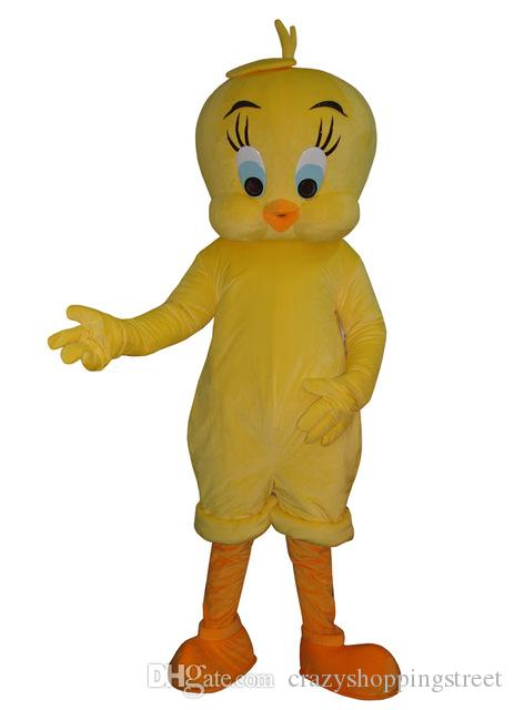 235f8a3bd94 Halloween Tweety Looney Tunes traje de la mascota de alta calidad de  dibujos animados amarillo pájaro Anime tema personaje carnaval de la  navidad ...
