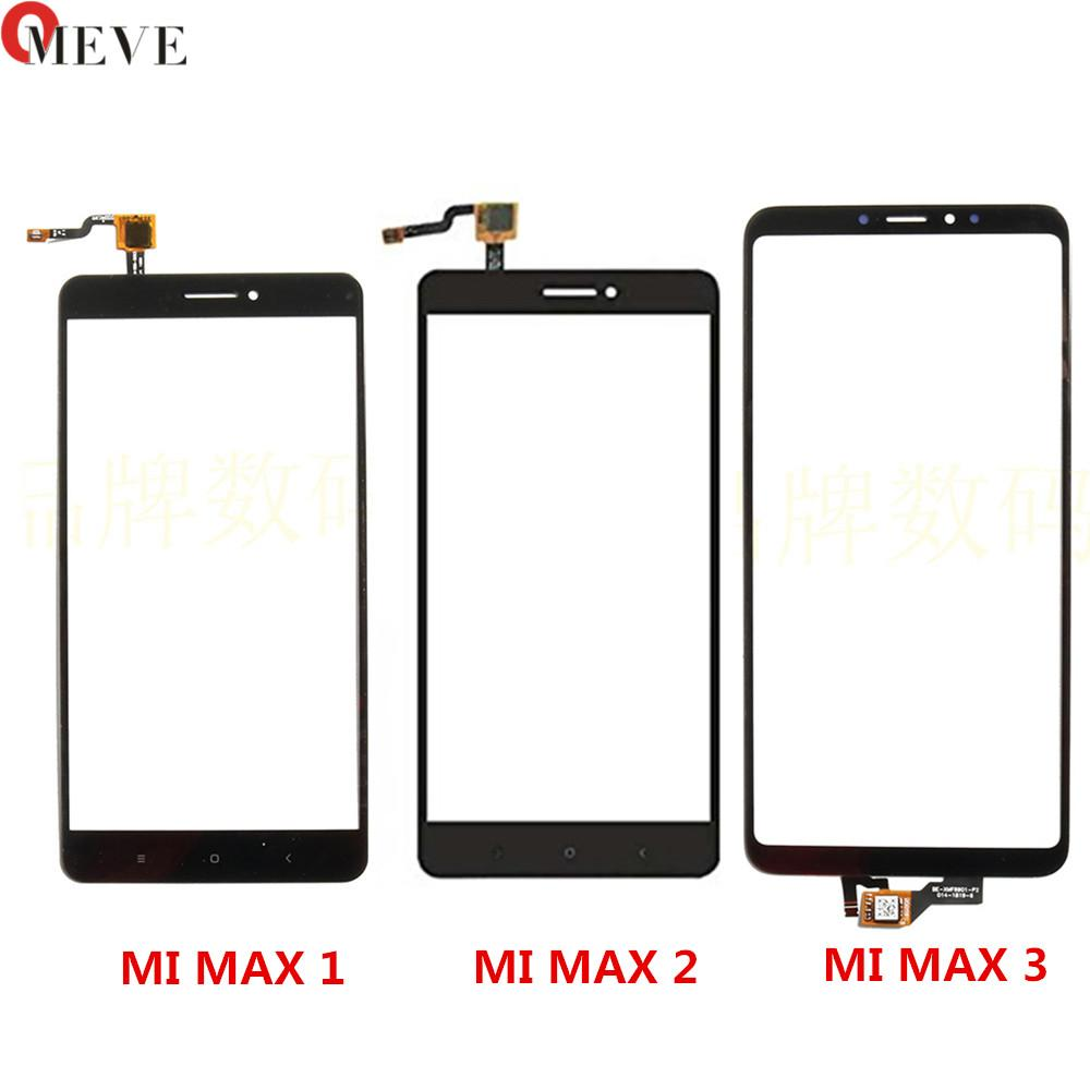 50PCS/LOT Touch Screen Panel Glass Sensor Digitizer MAX3 MAX2 Pro Prime Repair Replacement For Xiaomi Mi MAX 2 3 Touch Panel