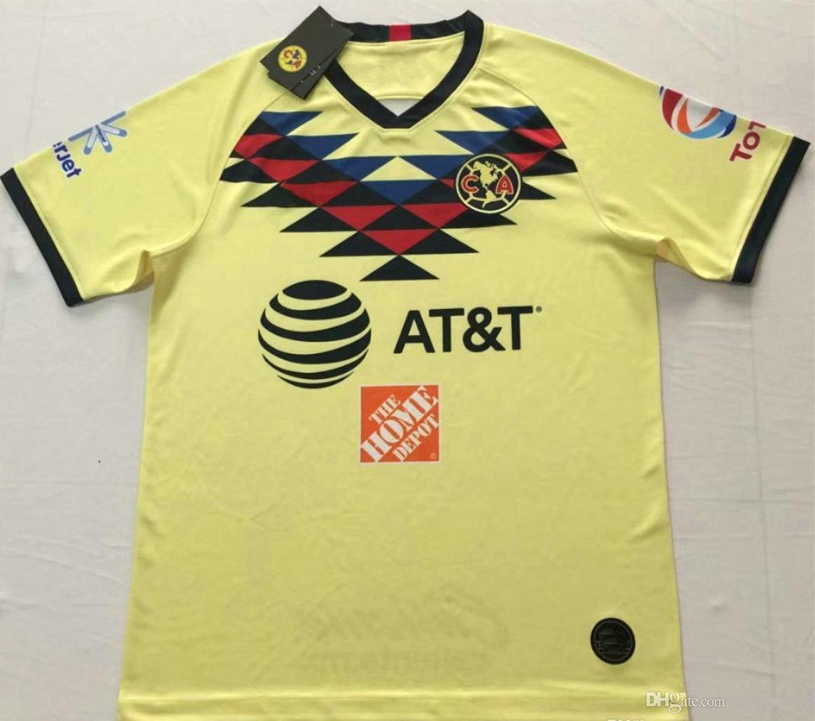 sports shoes 61485 df05e 2019 2020 America home Soccer Jersey Club de Futbol America away Soccer  Shirt Customized Mexico club football uniform Sales