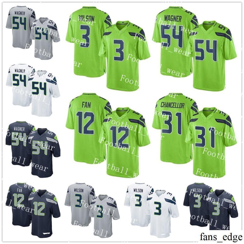 5cf78d0c4 2019 Seattle Jersey 3 Russell Wilson 54 Bobby Wagner 29 Earl Thomas III 16  Tyler Lockett 50 K.J. Wright 31 Kam Chancellor Seahawks 12 Fan From  Fans edge