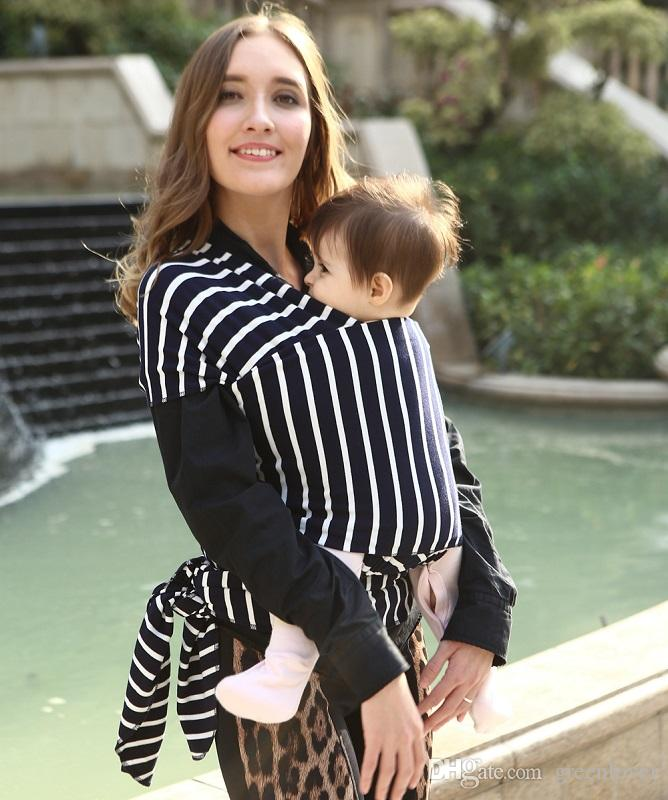 Stripe3| Baby Sling Carrier Wrap Suitable for Newborns to 35 lbs Baby Sling Nursing Cover-Breathable Stretchy Cotton Best Baby Gift