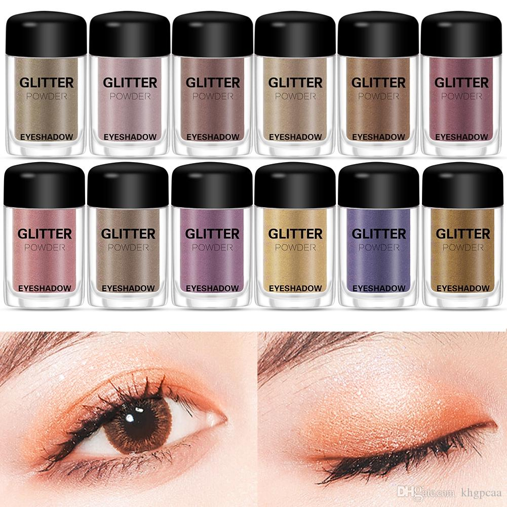12Color Glitter Eyeshadow Palette Pressed Shimmer Matte Eye Shadow MakeUp LongLasting Eye Palette Hua For Beauty Cosmetic