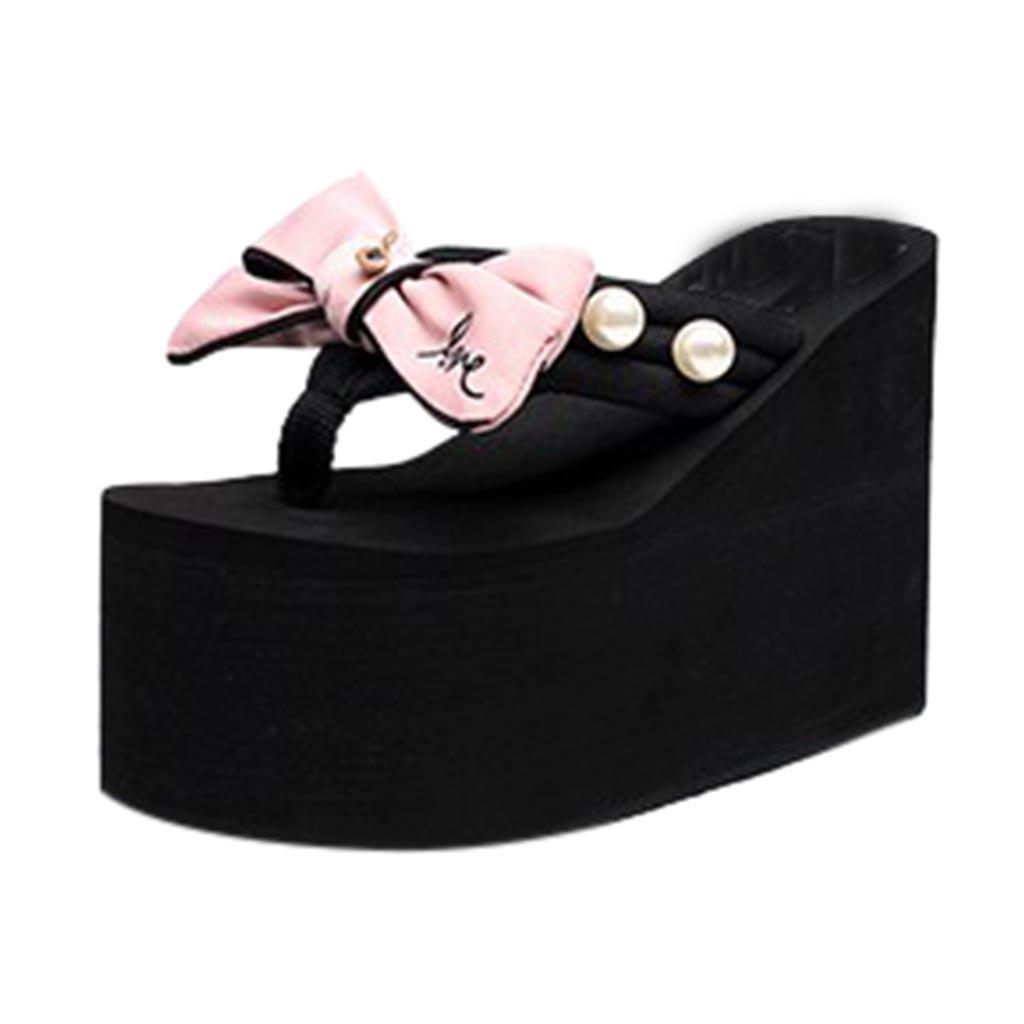 Acquista Pantofole Da Donna Da Donna Bambina Bowknot Zeppe Infradito  Sandali Pantofole Scarpe Da Spiaggia Moda Zapatos De Mujer   G9 A  33.99  Dal Lbdshoes ... a1deaf16656