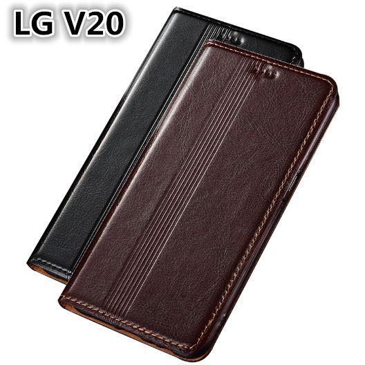 new arrival 913c8 1d202 QX14 Genuine Leather Case For LG V20 Cover Magnetic Case For LG V20 Phone  Case Fundas With Card Holder