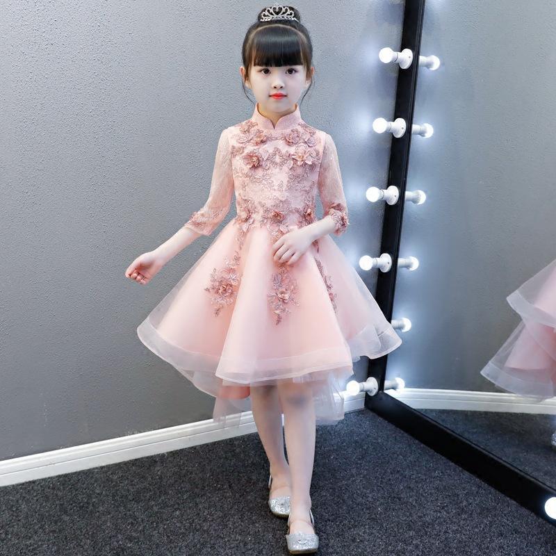 93ae37defd6 2018 New Girls  Wedding Cloth Tail Children s Birthday Dress Princess Dress