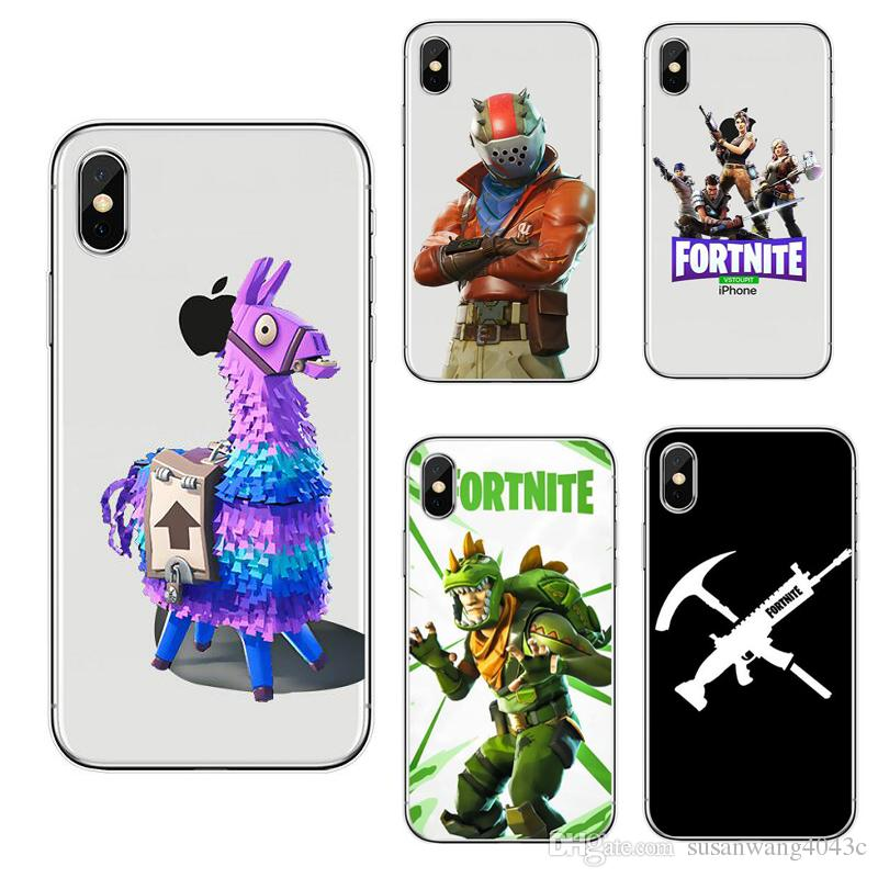 new arrival 93695 069d7 Fortnite Battle Royale Designer Phone Case for Iphone X XR XS Max 8 7 6 6s  plus S9 S10 P30 soft TPU cover Painting Defender cases Skin 398