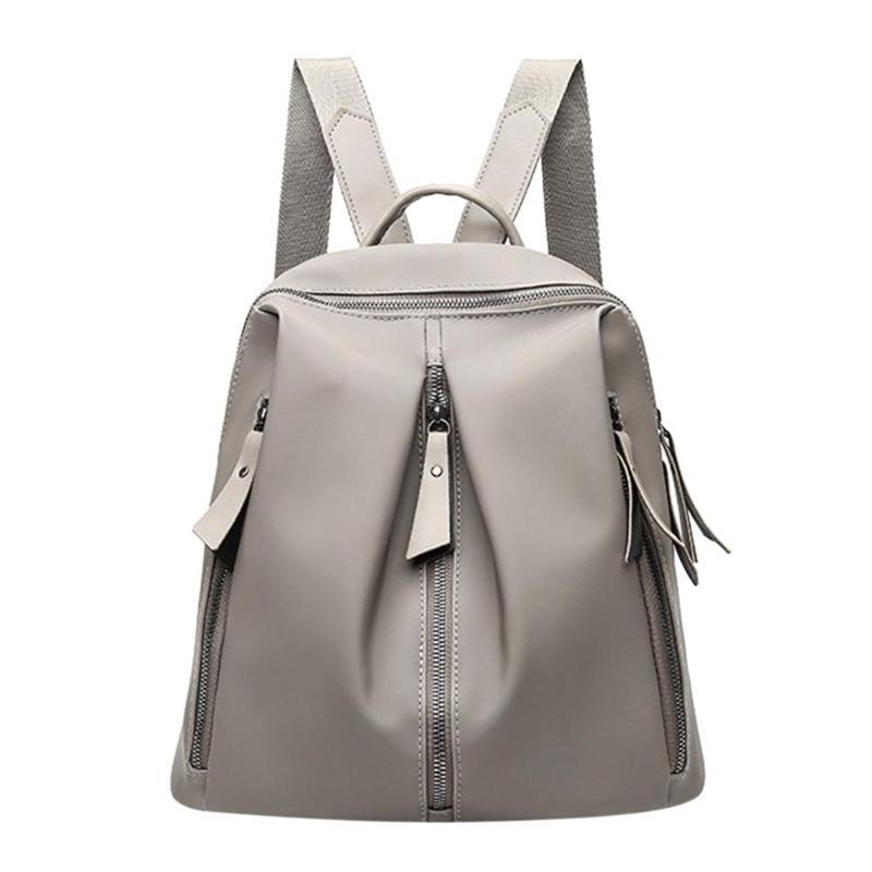 d539424fccc3e Simple Nylon Backpack Women Grey Travel Backpack School For Girl 2019 New  Casual Rucksack Elegant Large Capacity Bag Jansport Backpacks School Bags  From ...